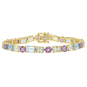 Stella Grace Blue Topaz & Amethyst Bracelet