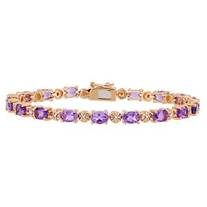 Stella Grace Amethyst & Diamond Accent Tennis Bracelet