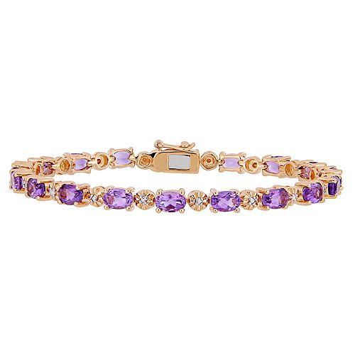 Stella Grace Amethyst & Diamond Accent Tennis Bracelet