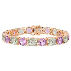 Stella Grace Green Amethyst & Rose de France Bracelet