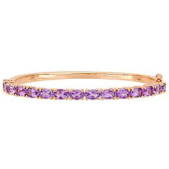 Stella Grace Amethyst Bangle Bracelet