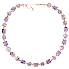 Stella Grace Rose de France & Amethsyt Link Necklace
