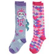 Girls 4-16 Elli by Capelli 2-pack Knee High Novelty Socks
