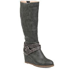 Journee Collection Garin Women's Wedge Knee High Boots