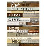 """Live Joyfully"" Sentimental Wall Decor"
