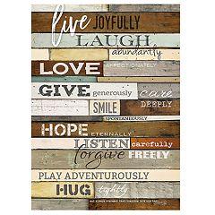 'Live Joyfully' Sentimental Wall Decor