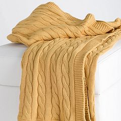 Rizzy Home Classic Cable Knit Throw
