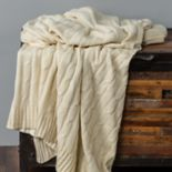 Rizzy Home Silver Cable Knit Throw