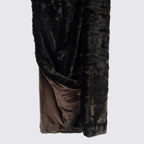 Rizzy Home Solid Faux Fur Throw