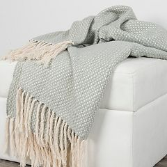 Rizzy Home Cross Weave Throw