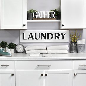 Stratton Home Metal Laundry Sign