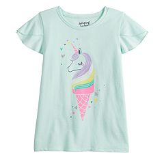 Girls 4-12 Jumping Beans® Flutter Sleeve Graphic Tee