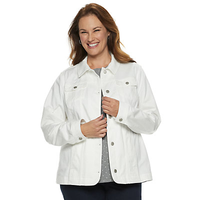 Plus Size Croft & Barrow® Button-Front Jacket
