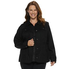 Plus Size Croft & Barrow® Button-Front Jacket