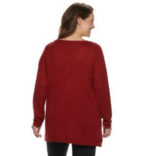 Plus Size Croft & Barrow® Pointelle Sweater