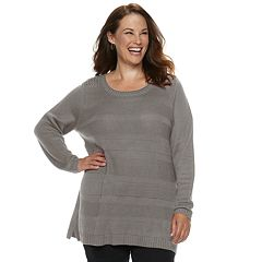 Plus Size Croft & Barrow® Pointelle Sweater