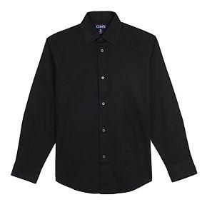 Boys 8-20 Husky Chaps Herringbone Button-Down Shirt
