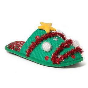 Women's Dearfoams Holiday Novelty Scuff Slippers