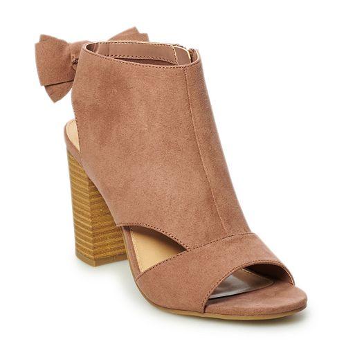 LC Lauren Conrad Nutmeg Women's High Heel Ankle Boots