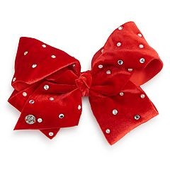 Girls 4-16 JoJo Siwa Rhinestone, Simulated Pearl & Velvet Hair Bow