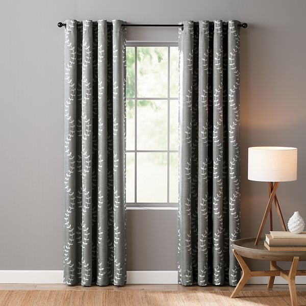 Sonoma Goods For Life Ultimate Performance 100 Lindley 2 Pack Embroidered Blackout Window Curtain