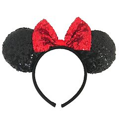 Disney's Minnie Mouse Girls Sequin Ear & Bow Headband