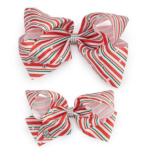 Girls 4-16 JoJo Siwa Peppermint Striped Hair Bow & Matching Doll Hair Bow
