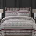 Tribeca Living Alpine Knit Flannel Printed Oversized Duvet Cover Set