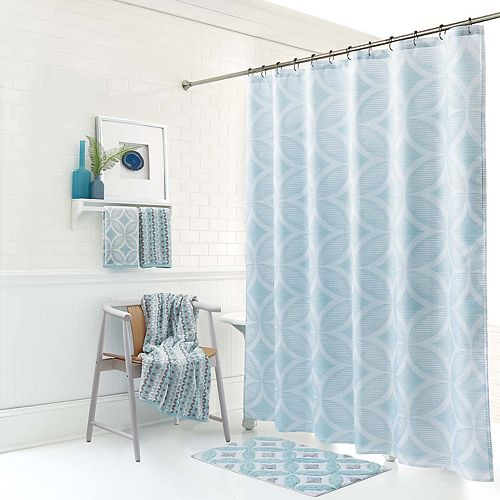 One Home Brand Mondrian Geo Shower Curtain