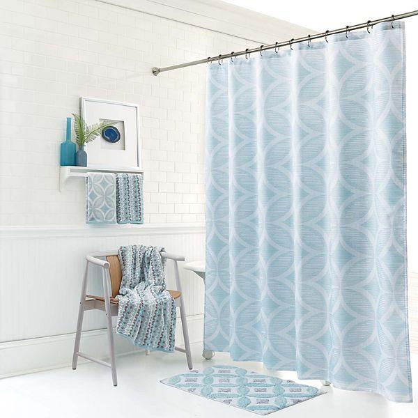 One Home Mondrian Geo Shower Curtain