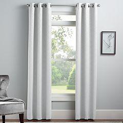 Croft & Barrow® 2-pack Embossed Trellis Window Curtains