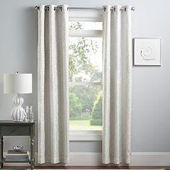 Croft & Barrow® 2-pack Greer Window Curtains