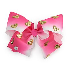 Girls 4-16 JoJo Siwa Glitter Heart Dip Dye Hair Bow