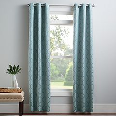 Croft & Barrow® 2-pack Auburn Trellis Window Curtains