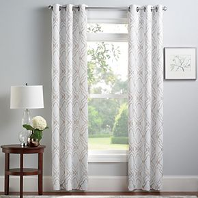 Croft & Barrow® 2-pack Embroidered Scroll Window Curtains