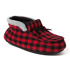 Boy's Dearfoams Plaid Family Holiday Boot Slippers