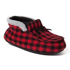Boy's Dearfoams Plaid Family Holiday Boot Slippers