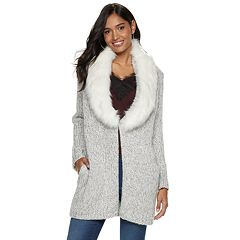 Women's Jennifer Lopez Faux-Fur Cardigan