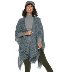 Women's Apt. 9® Boucle Hooded Ruana