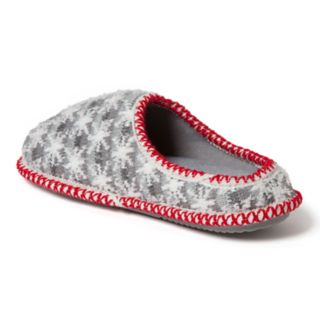 Women's Dearfoams Family Snowflake Striped Knit Clog Slippers