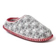 Kids' Dearfoams Family Snowflake Striped Knit Clog Slippers