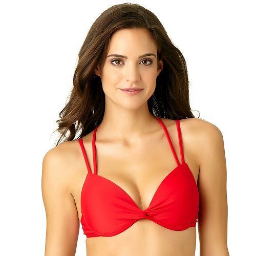 Women's California Sunshine Push Up Strappy D Cup Bikini Top