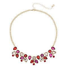 LC Lauren Conrad Simulated Crystal Statement Necklace