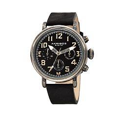 Akribos XXIV Men's Leather Watch - AK1028BK