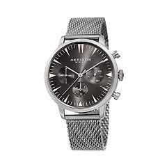 Akribos XXIV Men's Stainless Steel Mesh Watch - AK1027SS