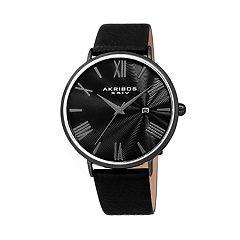 Akribos XXIV Men's Leather Watch - AK1041BK