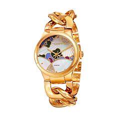 Akribos XXIV Women's Diamond Accent Mosaic Watch - AK931YG