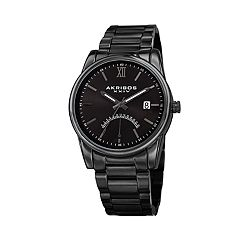Akribos XXIV Men's Dual Time Watch - AK962BK
