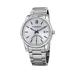 Akribos XXIV Men's Dual Time Watch - AK962SS