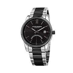 Akribos XXIV Men's Two Tone Dual Time Watch - AK962TTB